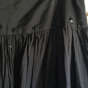 Laura Ashley Skirts - Laura Ashley Black Silk Skirt Gothic Witchy Sz 6